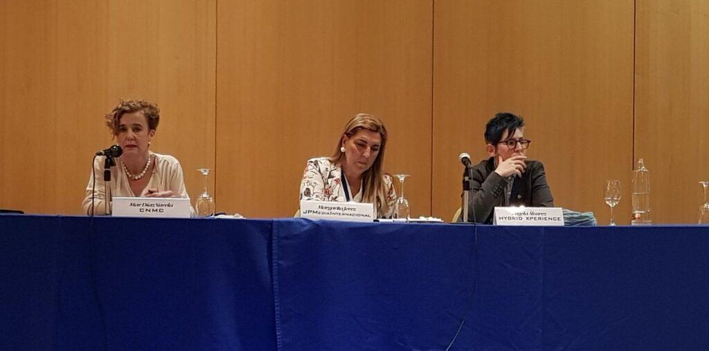 De izquierda a derecha, Mar Díaz Valera, Margarita Jerez y Ángela Álvarez.