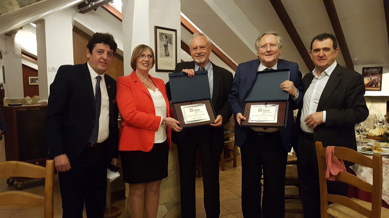 De izquiera a derecha, Eugenio de Quesada, Olga Bohera, Miguel Ormaetxea, Miquel Sarríes y Arsenio Escolar.