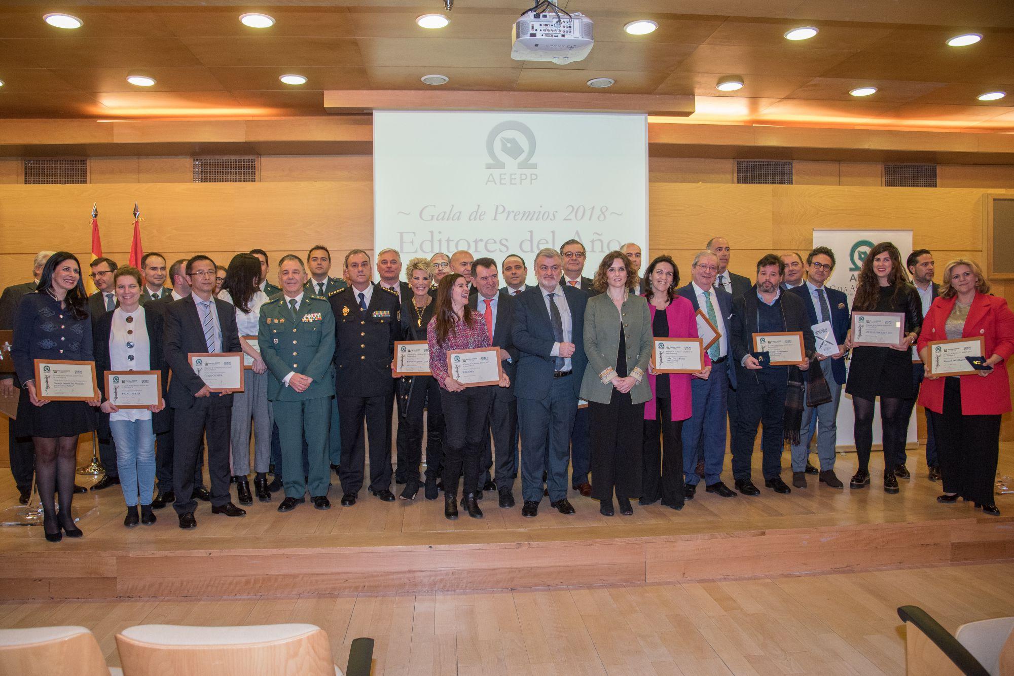 Foto de grupo de los premiados en la XII Edición 2018.